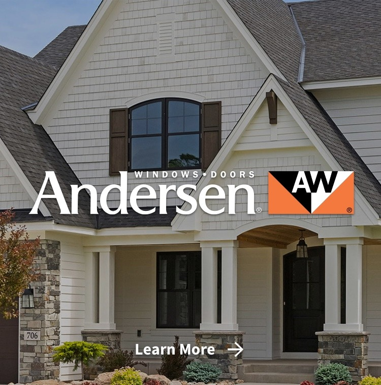 Anderson windows & doors on house